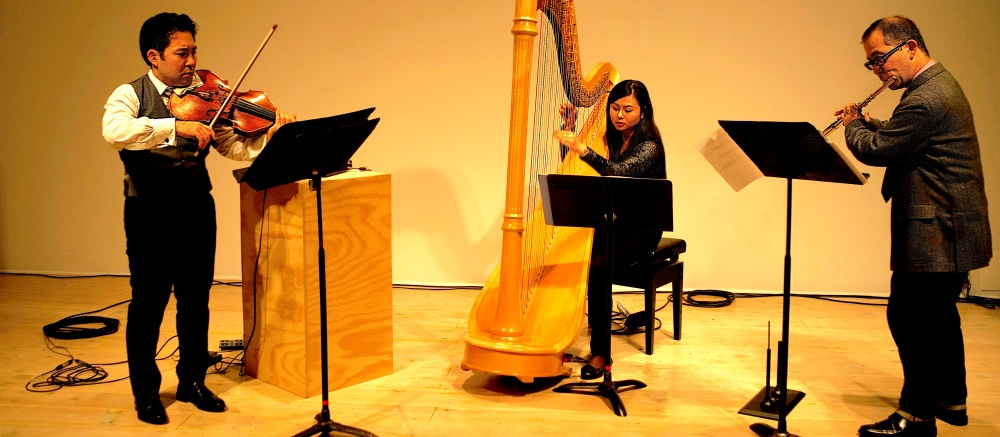 Onyx Trio performing at Open Space, Victoria, BC. Photo: Yisi Li